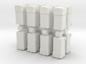 Waste Container Bin (x16) 1/120 in White Natural Versatile Plastic
