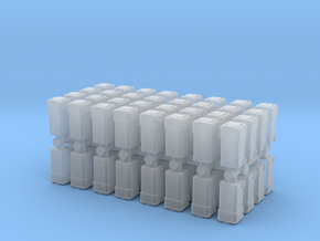 Waste Container Bin (x64) 1/200 in Smooth Fine Detail Plastic