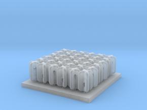 Porcelain Strain Insulator Set F scale in Smooth Fine Detail Plastic
