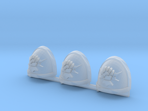 Fist on Thunderbolt Gravus shoulder pads x3 L #1 in Smooth Fine Detail Plastic