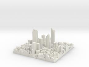 3D London Puzzle Junior in White Natural Versatile Plastic