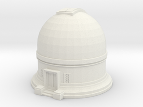 Observatory 1/87 in White Natural Versatile Plastic