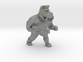 Pigcop Classic miniature for games rpg scifi DnD in Gray PA12