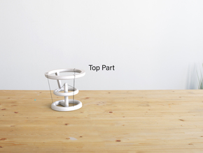 Levitating Anti Gravity Tensegrity 2 - Large Top in White Natural Versatile Plastic