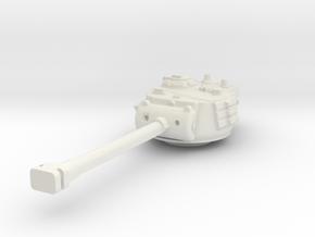 M26 Pershing Turret 1/87 in White Natural Versatile Plastic