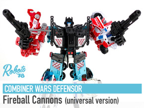 [Universal] CW/UW Defensor Fireball Cannons in White Natural Versatile Plastic