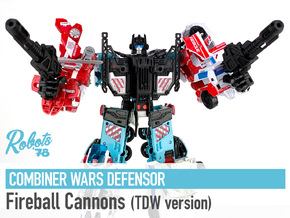 [TDW ver.] CW/UW Defensor Fireball Cannons in White Natural Versatile Plastic