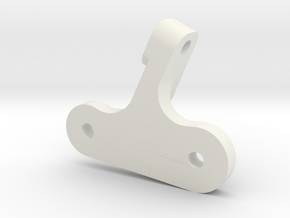 JaBird RC Forward Motor Plate Mount (V2 rails) in White Natural Versatile Plastic