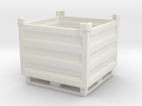 Palletbox Container 1/64 in White Natural Versatile Plastic