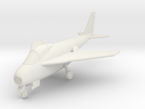 1/144 Bell X-5 in White Natural Versatile Plastic