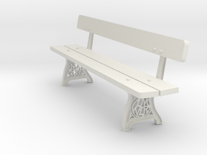 1/19th scale L&M bench in White Natural Versatile Plastic