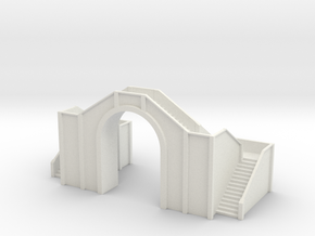 Railway Foot Bridge 1/100 in White Natural Versatile Plastic
