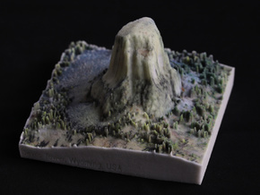 Devils Tower, Wyoming, USA, 1:5000 in Natural Full Color Sandstone