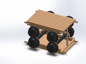 ROW 2 PUSHCAR in Smooth Fine Detail Plastic