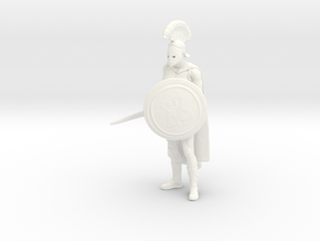 Greek-Soldier-Pose 1 in White Processed Versatile Plastic