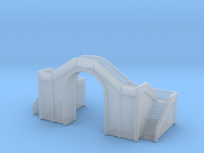 Railway Foot Bridge 1/1000 in Smooth Fine Detail Plastic