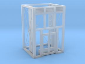 Aufzug Ein- Ausstieg offene Stahlkonstruktion eins in Smooth Fine Detail Plastic