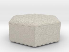 Miniature 1:48 Pouf in Natural Sandstone: 1:48 - O
