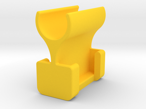 Syringe Holder in Yellow Processed Versatile Plastic: Extra Small