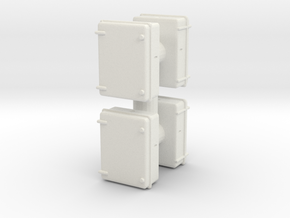 Wall Electrical Cabinet (x4) 1/48 in White Natural Versatile Plastic