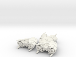 1-A Runabout Squadron  (3) in White Natural Versatile Plastic