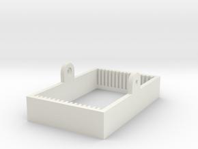 Microscope Slide Holder in White Natural Versatile Plastic