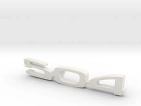 keychain peugeot 504 in White Natural Versatile Plastic