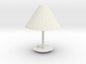 Modern Lamp 1:12 in White Natural Versatile Plastic: 1:12