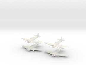 1/200 Bloch MB.152 (x4) in White Natural Versatile Plastic