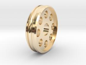 CarMoWorld Race-tin Front Wheel - Circles v1 in 14K Yellow Gold