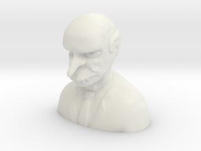Creepy Mr. Burns (Suit Ver.) in White Natural Versatile Plastic