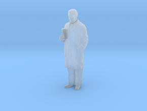 1/144 Scientist in Coat with Big Coffee in Smooth Fine Detail Plastic