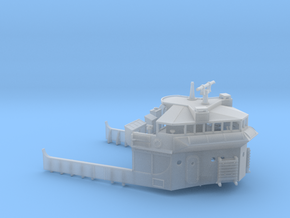 1/240 USS Ward Navigation Bridge in Smooth Fine Detail Plastic