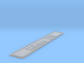 Nameplate Mikasa 三笠 in Smoothest Fine Detail Plastic