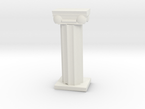 Greek Column in White Natural Versatile Plastic
