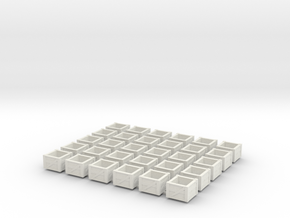 kratten 30 stuks op H0 in White Natural Versatile Plastic