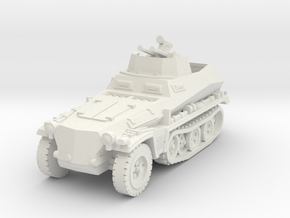 Sdkfz 250/4 A Anti Aircraft 1/76 in White Natural Versatile Plastic