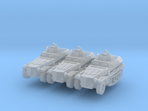 Sdkfz 250/4 A Anti Aircraft (x3) 1/220 in Smooth Fine Detail Plastic