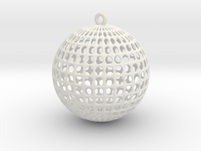 Planet Voronoi in White Natural Versatile Plastic