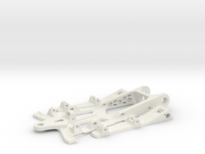 748sr spec racer - 1/32  slot car chassis in White Natural Versatile Plastic