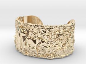Elephants Bangle Bracelet in 14K Yellow Gold