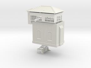 LB41C Leek Brook Junction signal box in White Natural Versatile Plastic