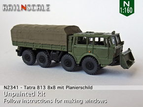 Tatra 813 8x8 with dozer blade (N 1:160) in Smooth Fine Detail Plastic