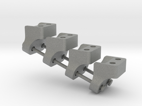 Wraith AR60 Lower link mount  X4 in Gray PA12
