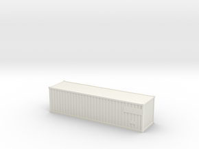 Container30ft  (N-scale) in White Natural Versatile Plastic
