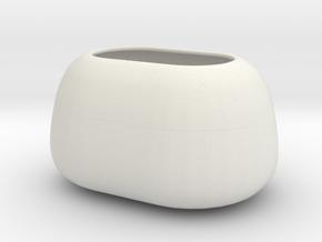 Modern Miniature 1:24 Vase  in White Natural Versatile Plastic: 1:24