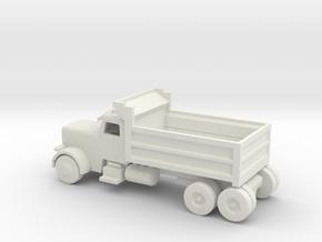 N Scale Dump Truck in White Natural Versatile Plastic