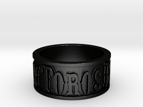 Toros Band (Size 10) in Matte Black Steel