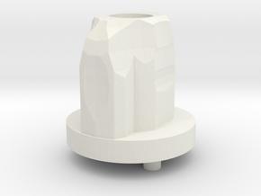 Ergo Grip Back Cap in White Natural Versatile Plastic