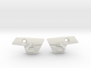 Revolver Covers in White Natural Versatile Plastic